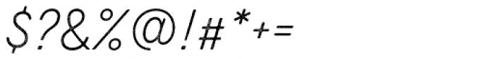 Zing Script Rust Light Base Line Diagonals Font OTHER CHARS