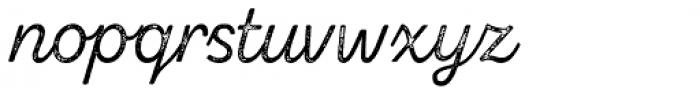 Zing Script Rust Regular Base Grunge Font LOWERCASE