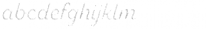 Zing Script Rust Regular Fill Halftone A Font LOWERCASE