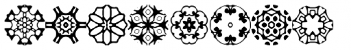 Zinnias Font LOWERCASE