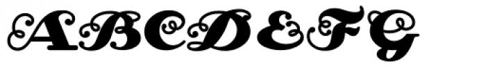 Zinzinnati Swash Font UPPERCASE