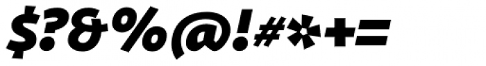 ZionTrain Black Italic Font OTHER CHARS