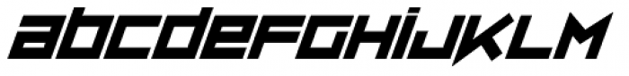 ZipSonik Italic Font LOWERCASE