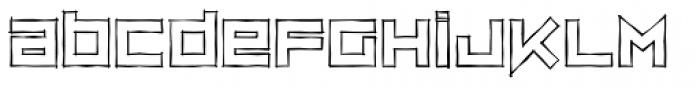 ZipSonik Sketch Font LOWERCASE