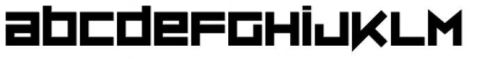 ZipSonik Font LOWERCASE