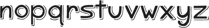 Zoetic Shadow ttf (400) Font LOWERCASE