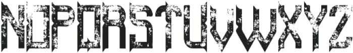 ZombieFont Aged otf (400) Font UPPERCASE