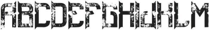 ZombieFont Aged otf (400) Font LOWERCASE