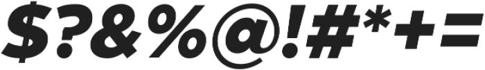 Zona Black  Italic ttf (900) Font OTHER CHARS