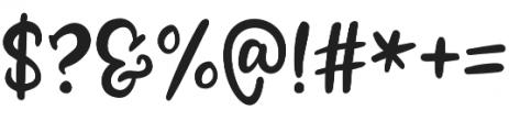 Zooky Squash Left Swash otf (400) Font OTHER CHARS