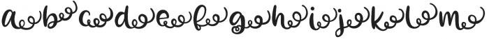 Zooky Squash Right Swash otf (400) Font LOWERCASE