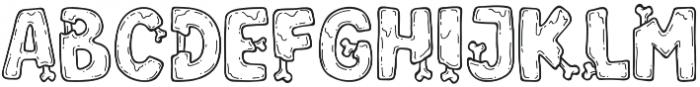 Zoombieland otf (400) Font UPPERCASE