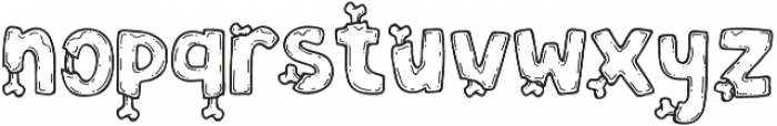 Zoombieland otf (400) Font LOWERCASE