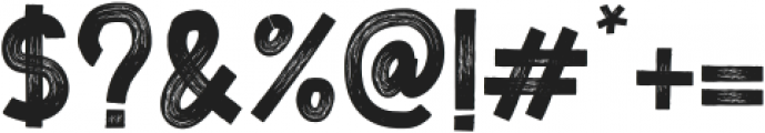 Zoombold Brush ttf (700) Font OTHER CHARS