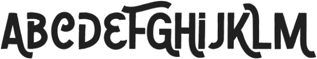 Zoombold Solid ttf (700) Font LOWERCASE