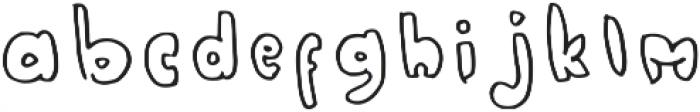 Zorropha Regular otf (400) Font LOWERCASE