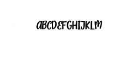 Zoocute-Regular.ttf Font UPPERCASE