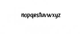 Zoocute-Regular.ttf Font LOWERCASE