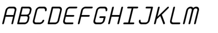 Zolan Mono BTN Oblique Font UPPERCASE