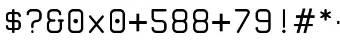 Zolan Mono BTN Regular Font OTHER CHARS