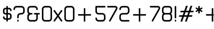 Zolano Sans BTN Regular Font OTHER CHARS