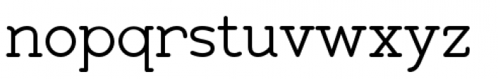 Zolano Serif BTN Regular Font LOWERCASE