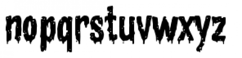 Zombie Rot Drippy Font LOWERCASE