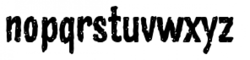 Zombie Rot Font LOWERCASE