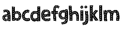 Zombie Starfish Dots Font LOWERCASE