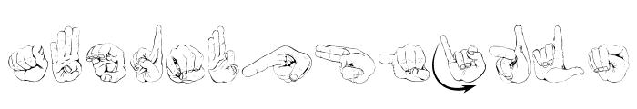 ZOE Germany Fingeralphabet Regular Font UPPERCASE