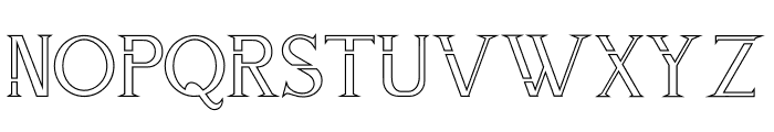 ZORGEOUS INLINE Font UPPERCASE