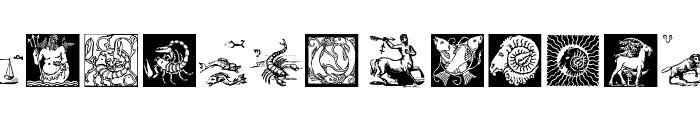 ZodiacsSignStars Font UPPERCASE