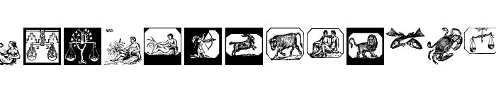 ZodiacsSignStars Font LOWERCASE