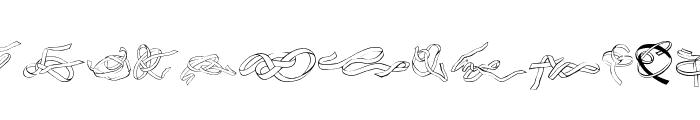 Zoeknots Font LOWERCASE