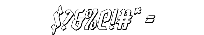 Zollern 3D Italic Font OTHER CHARS