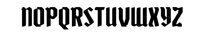 Zollern Expanded Font LOWERCASE