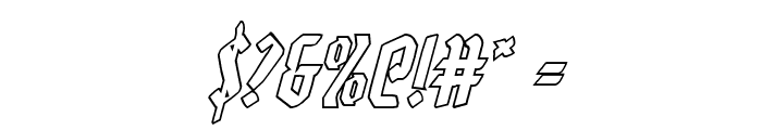Zollern Outline Italic Font OTHER CHARS