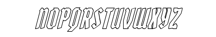 Zollern Outline Italic Font UPPERCASE