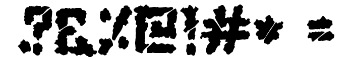 Zombie Apocalypse Font OTHER CHARS