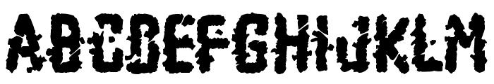Zombie Apocalypse Font UPPERCASE