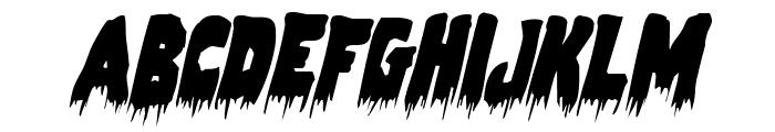 Zombie Control Condensed Italic Font UPPERCASE