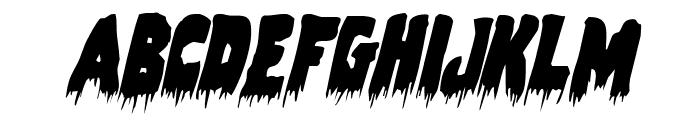 Zombie Control Condensed Italic Font LOWERCASE