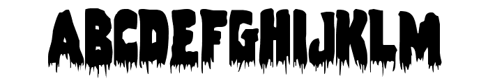 Zombie Control Condensed Font LOWERCASE
