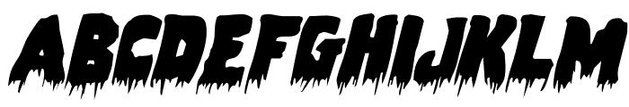 Zombie Control Italic Font LOWERCASE