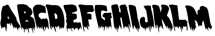 Zombie Control Leftalic Font LOWERCASE
