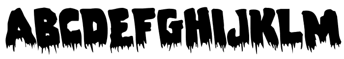 Zombie Control Rotated Font LOWERCASE