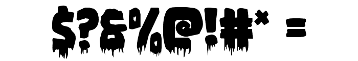 Zombie Control Font OTHER CHARS