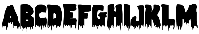 Zombie Control Font UPPERCASE