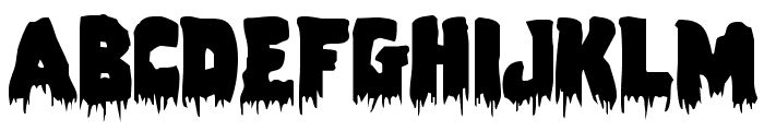 Zombie Control Font LOWERCASE