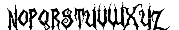 Zombie Holocaust Font UPPERCASE
